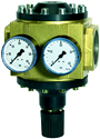 Pressure regulators and filters for high pressures