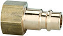Stems and plugs for couplings DN 7.2 - DN 7.8, brass with a bare metal surface